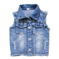 4042 мальчик джинсовые Вязаные Жилеты для женщин джинсы Жилеты джинсы для мальчиков Вязаные Жилеты для женщин маленьких светло-голубой цвет ...