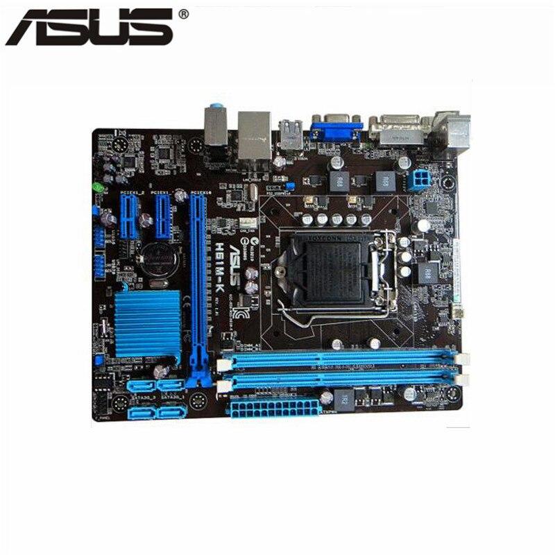 Asus H61M-K Motherboard H61 Chip Support Socket LGA 1155 i3 i5 i7 DDR3 16G ...