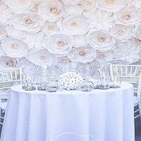 77 шт. комплект гигантский Бумага цветы для свадьбы фоне декораций торговый центр Windows Дисплей витрина костюм 2*2 метра