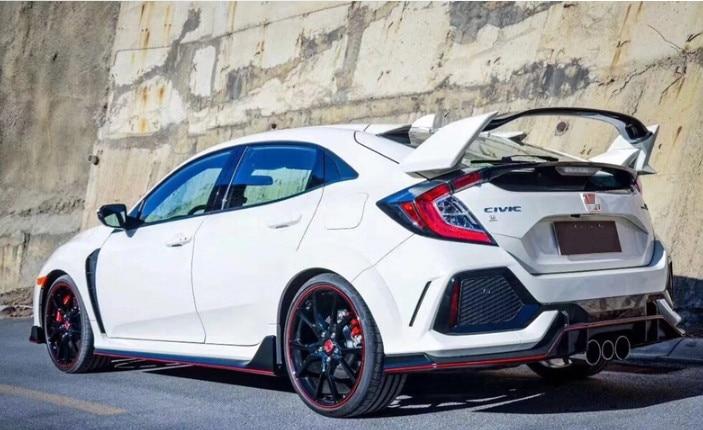 Becquet de coffre arrière de couleur de peinture en plastique ABS de Style type-r pour Honda Civic Hatchback 2017 2018 2019 - 3