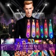 Четырехместный светодиодный мигающий галстук-бабочка светящиеся галстуки с блестками реквизит для выступлений Новинка Рождественский Бар ночной клуб освещение Декор