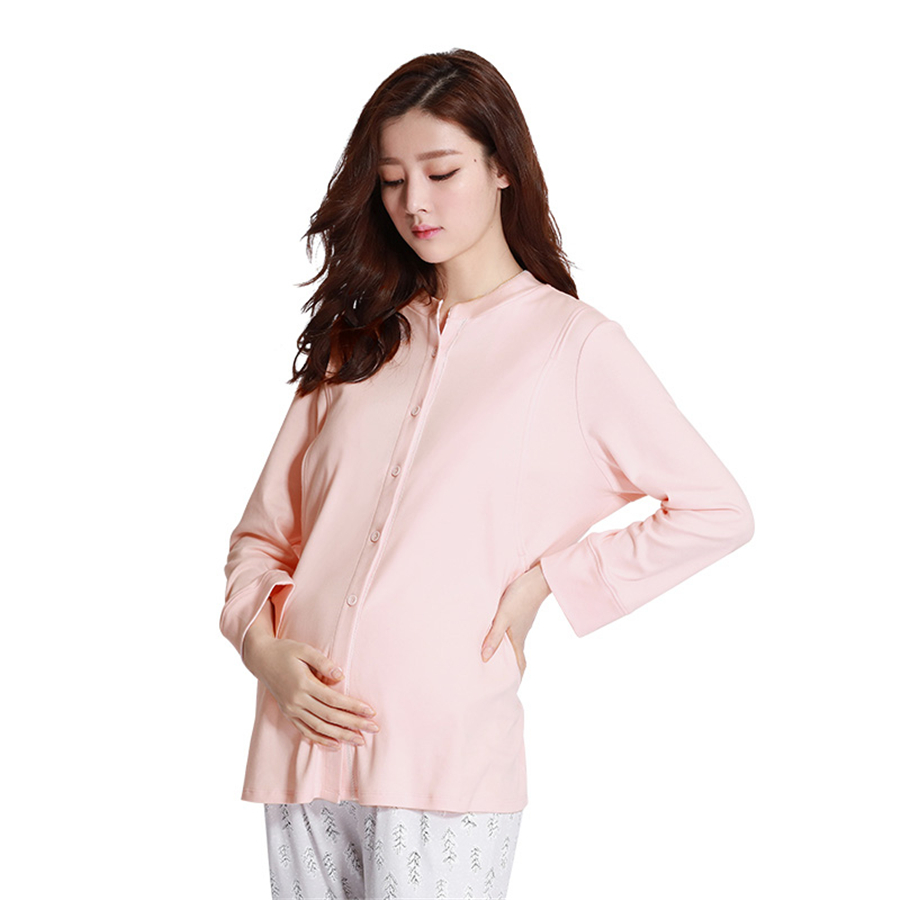 Maternity Pregnant Clothing Long Sleeve Winter Nightgown Clothes For Pregnant Women Cute Breastfeeding Pajamas Winter 60M0077 cotton materinty nursing pajamas long sleeve pijamalar hamile plaid pajamas set maternity sleepwear for pregnant women 50m084