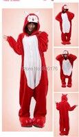 Free Shipping Wholesale 2014 New Unisex Red Ali Anime Cosplay Costume Adult Onesie Pajamas Sleep
