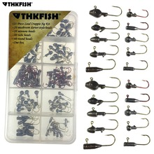 120Pcs 1g-3g Ice Jig Heads Fishing Hooks High Carbon Steel Darter Crappie Minnow Lead Jig Head Winter Ice Bass Carp Fishing Jigs
