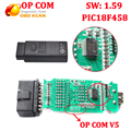 OP COM V1.59 For Opel OP-COM With PIC18F458 chip for opel opcom V5 pcb board Auto Scanner op-com free shipping