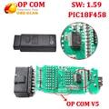 V1.59 Para Opel OP-COM OP Com chip para opel opcom PIC18F458 V5 placa pcb Scanner Auto op com-frete grátis