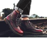 2019 Men High Topmen Shoes Leather For Martin Boots Male Autum Motocycle Boots Waterproof Men Boots Plus Size 47 Men's Shoes