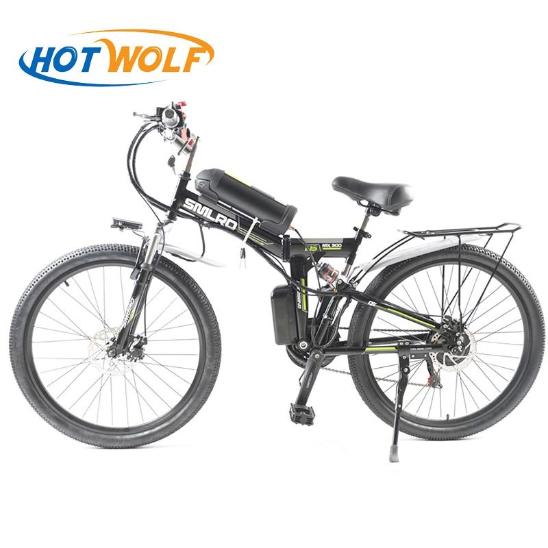 26 pollice Bicicletta Elettrica 48 v Batteria Al Litio Della Bici di Montagna Elettrica 350 w Motore 10.8ah Pieghevole EBike potente Bici Elettrica