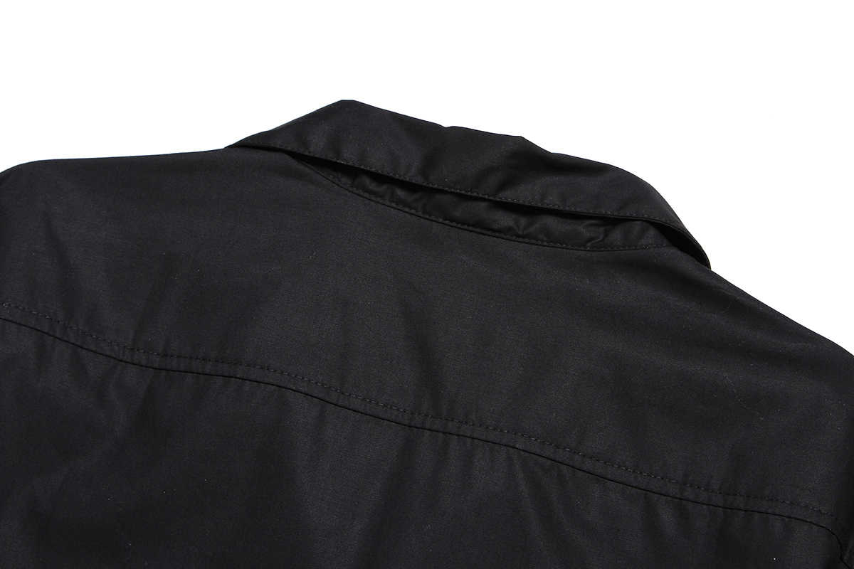 Moda mozaika drukowane męskie bawełniane na co dzień czarny biały szkocką kratę Panel Cowboy Hip Hop Rockabilly koszule Camisa Masculina