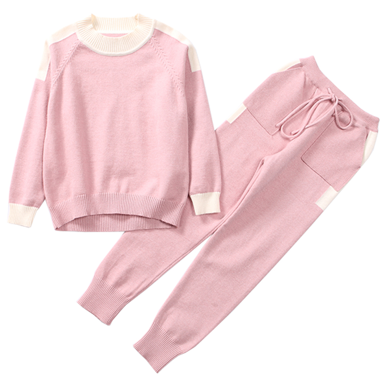 Children Knitted Clothing Sets For Girls Sweaters & Pants 2018 Spring Autumn Knitwear Brand Kids Outfits Girls Clothes Suit 4-12 retail 2pcs brand new design girls clothing sets for kids autumn tracksuit for girls velvet jacket pants children sport suit