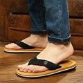 Zapatos de los hombres de verano flip flops para holgada hombres zapatillas de playa, chanclas de goma al aire libre masaje sandalias de los hombres
