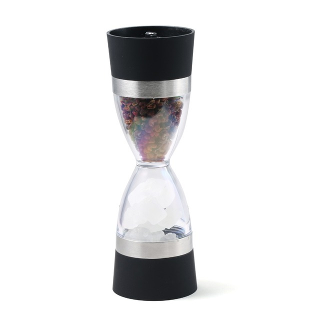Manual spice pepper mill grinder hourglass design
