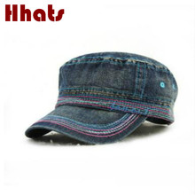 which in shower casual denim military hat for women and men adjustable