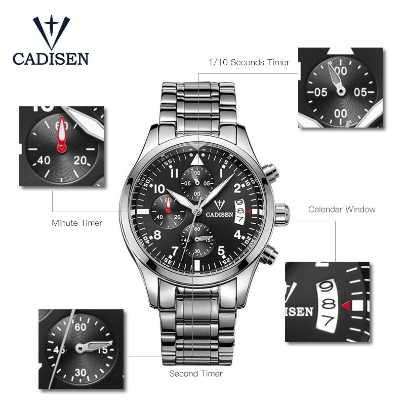 Cadisen Horloge Herenmode Sport Quartz Horloges Topmerk Luxe Volledig - Herenhorloges - Foto 6