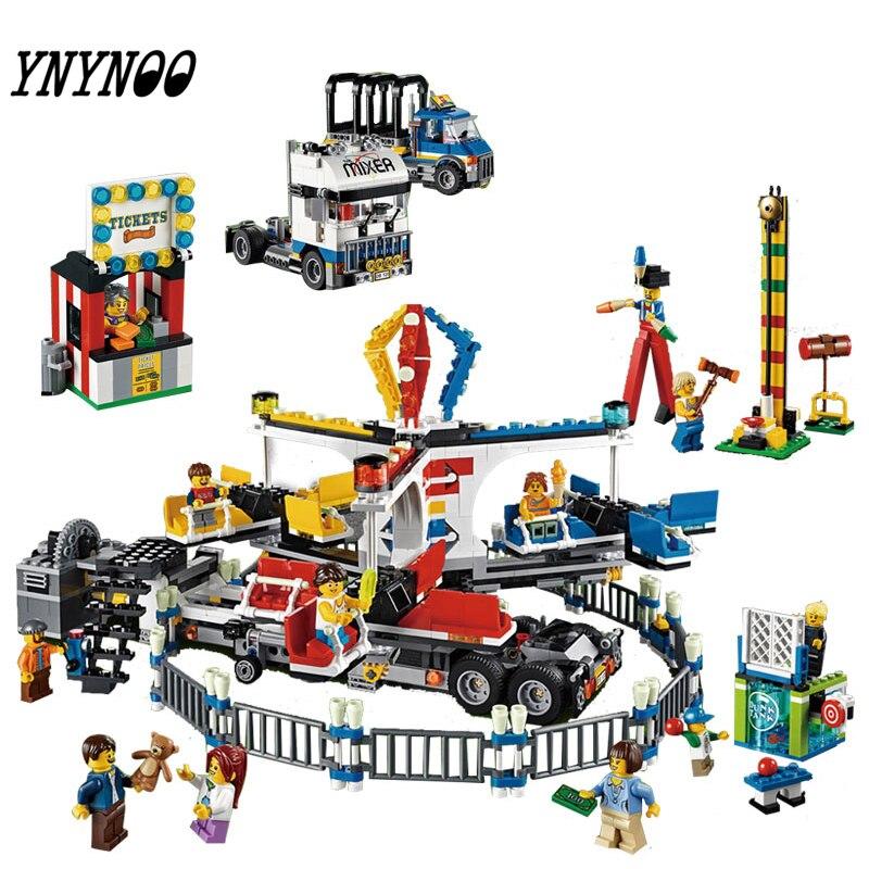 (YNYNOO) New 15014 Genuine Creator Street Series The Amusement Park Giant Stride Carnival Set 10244 Building Blocks Bricks Toys the unhappy giant level 3