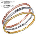 New Arrival  Platinum Plated Bangles for women AAA Cubic Zirconia Luxury Jewelry Allergy Free Cadmium Free