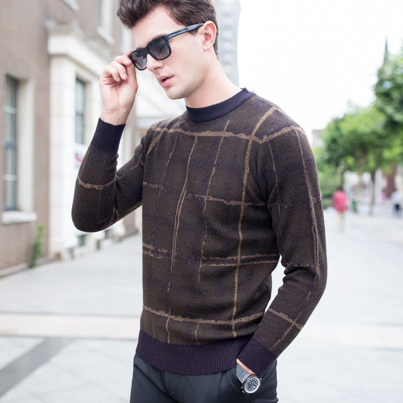 Pullover Men Knitwear 100% Wool Spring Mens Sweater Pullovers Male Casual Sweaters Classic Simple Solid Color Men Sweater 3