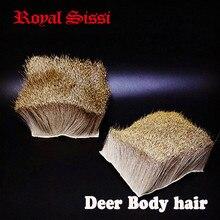 2 pcs/lot deer body hair fur patch with bigger size:7cm*7cm Elk Body Hair short deer hair for fishing dry flies tying materials