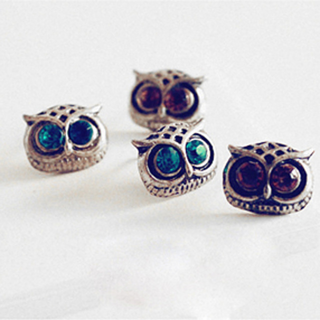Owl Earring Gfs Cute Lovely Eye Earrings Animal Fashion Personality Vintage