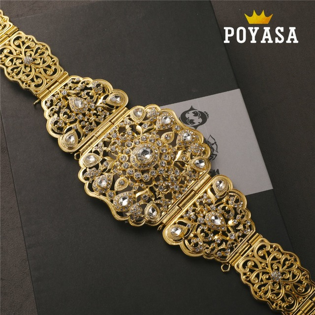 จัดส่งฟรีโมร็อกโก Pansy Caftan งานแต่งงาน gold และเข็มขัดโลหะเงินสำหรับสตรี