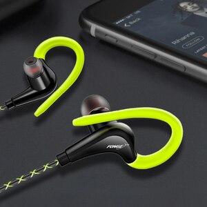Image 5 - אוזניות 3.5mm ספורט אוזניות סופר סטריאו אוזניות Sweatproof ריצת אוזניות עם מיקרופון אוזן וו אוזניות עבור Meizu אוזניות