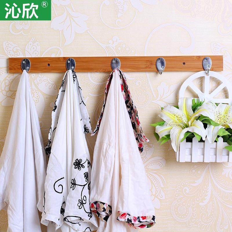 Qin Yan bedroom wall hanger after hanger creative minimalist simple European-style wood door wall coat rackQin Yan bedroom wall hanger after hanger creative minimalist simple European-style wood door wall coat rack