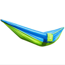 Large Size 270*130cm Parachute Nylon Fabric Garden Hammock Outdoor Travel Camping Swing For Two Persons Sleeping Hang Net Bed
