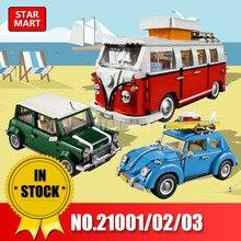 Lepin 21001 Campista 21002 Cooper 21003 Besouro Legoingly Blocos Tijolos Brinquedos Compatível 10220 10242 10252