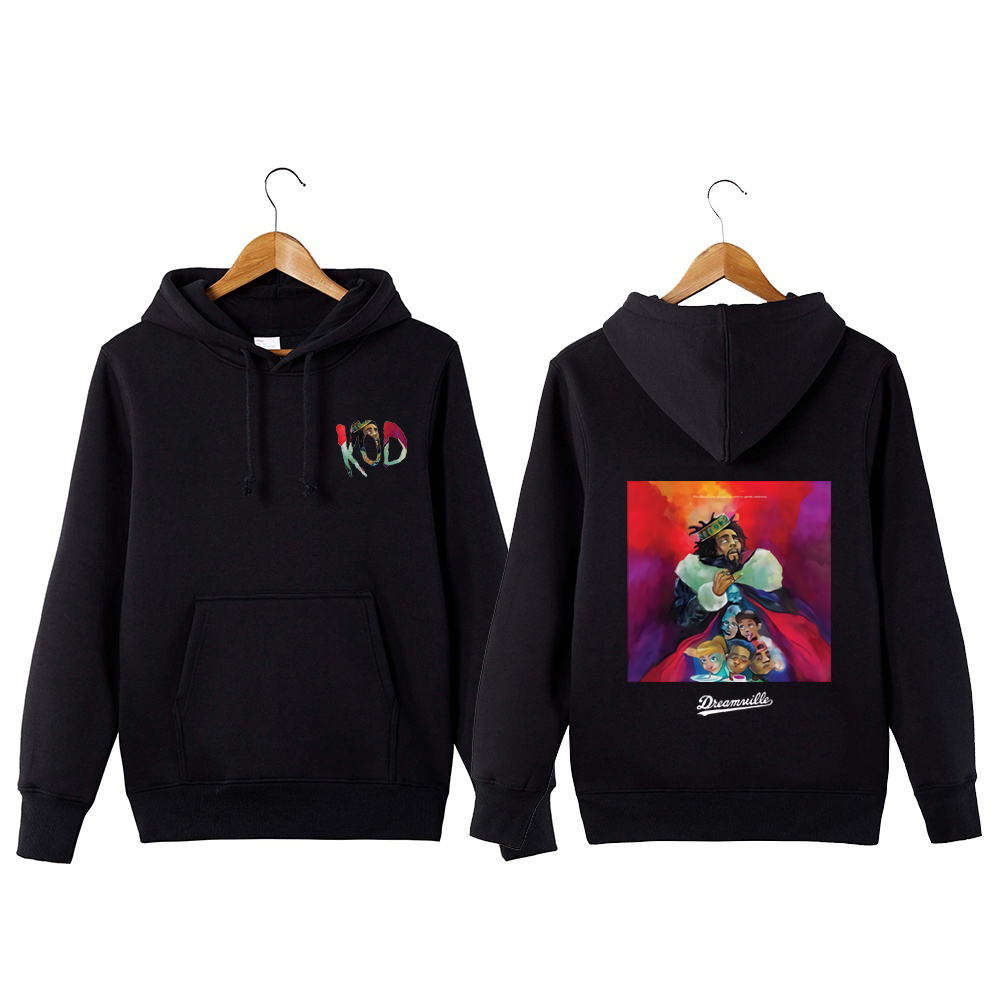 2019 King Cole Print Hoodies For Man Woman Casual Sweatershirts J Cole Dreamville Streetwear Rap Hip Hop KOD Pullover Coats T