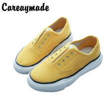 Careaymade-Korean version of simple round head canvas shoes with thick sole,comfortable leisure Womens shoes,5 colors