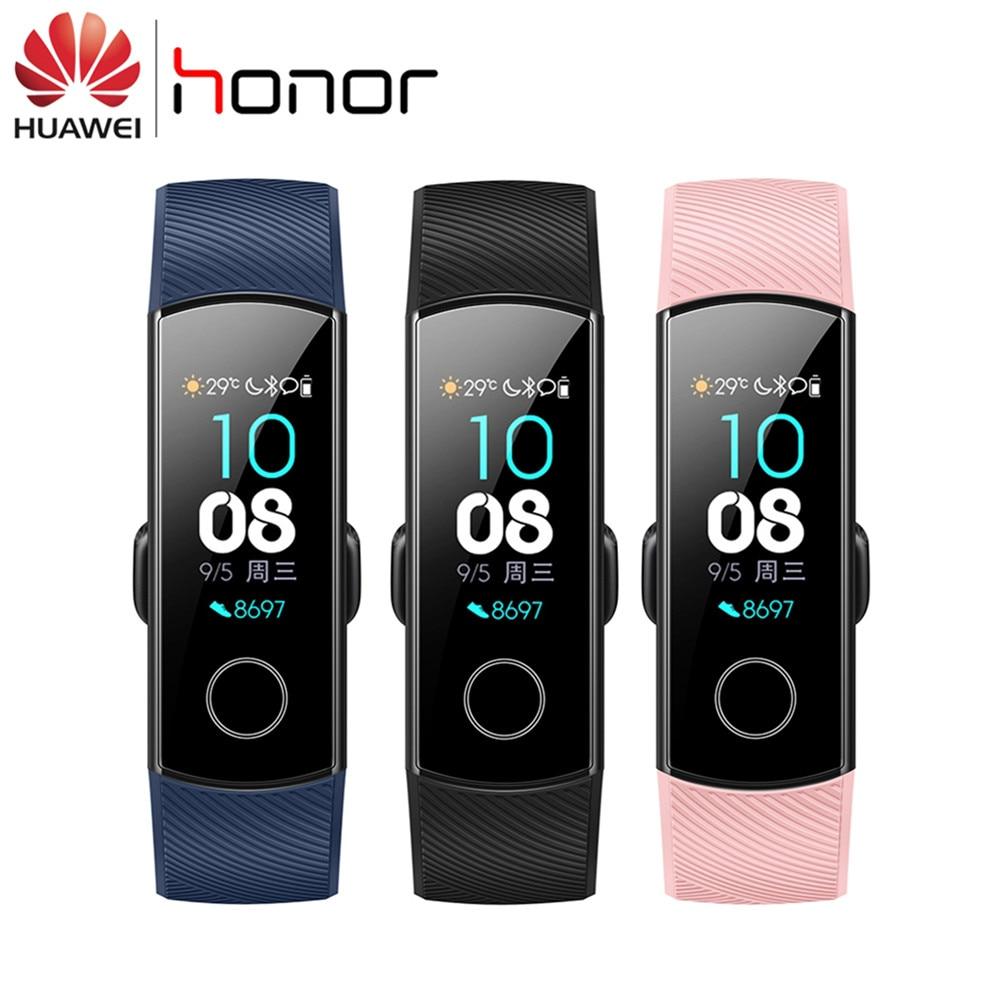 Huawei Honor Band 4 Smart bransoletka do zegarka zespół 0.95 ''Amoled kolorowy ekran dotykowy Sport pływać postawy snu z funkcją rytmu serca Snap Monitor w Inteligentne opaski od Elektronika użytkowa na  Grupa 1