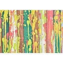 Laeacco Graffiti Wall Gradient Color Planks Birthday Scene Photographic Backdrops Custom Photography Background For Photo Studio