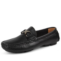 New 2016 Arrival Men Casual Genuine Leather Driving Doug Shoes Slip On Pure Color Breathable Flats