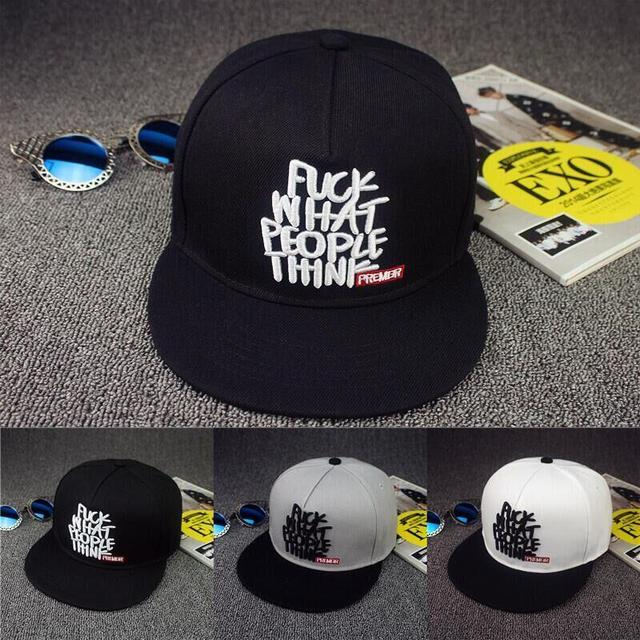 6b80849c382 brand letter fuck what people think embroidery snapback hip hop cap narrow baseball  caps flat hats