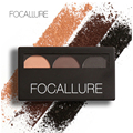 Focallure 2017 New Arrival High Quality Fashion 3 Colors Delicate Natural Waterproof 3D Eyebrow Powder With Mirror and Brush