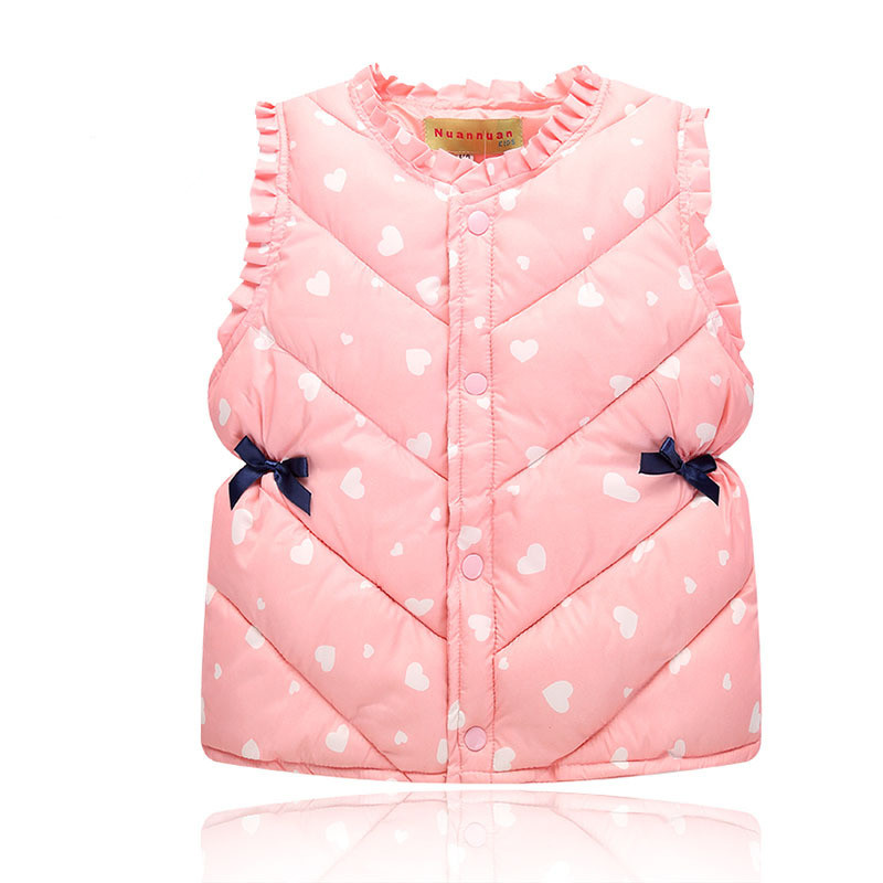 AOSTA BETTY Children's Vest Girls Winter Spring Warm Vests Sweet Waistcoat for Boys Cartoon Baby Clothes Kids Tops Jackets 2017 new solid winter jacket women hooded coat cotton padded parkas long warm sweat girls cold outwear female down jacket m 3xl