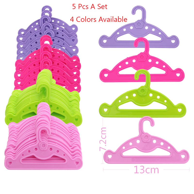 New Hot Sell Two Style Hangers Five A Package For 18 Inch American  Doll As The Best Gift For Children