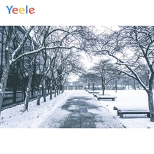 Yeele Winter Landscape Photocall Tree Grunge Bench Photography Backdrops Personalized Photographic Backgrounds For Photo Studio