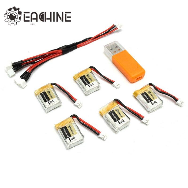 5 шт. Нибиру E010 e010c 3.7 В 150 мАч <font><b>45C</b></font> обновления Батарея USB Зарядное устройство набор для RC Quadcopter запасных Запчасти мощность зарядки Асса