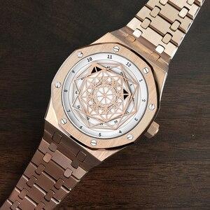 Image 4 - Reloj DIDUN mecánico automático para hombre, cronógrafo deportivo de negocios, luminoso, resistente al agua hasta 30m