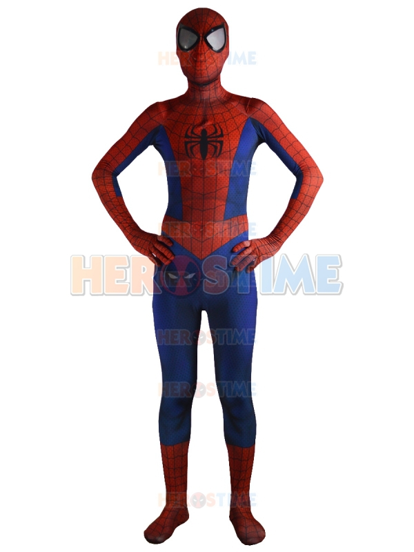 Ultimate Spiderman Costume Classic Spandex Fullbody Superhero ...