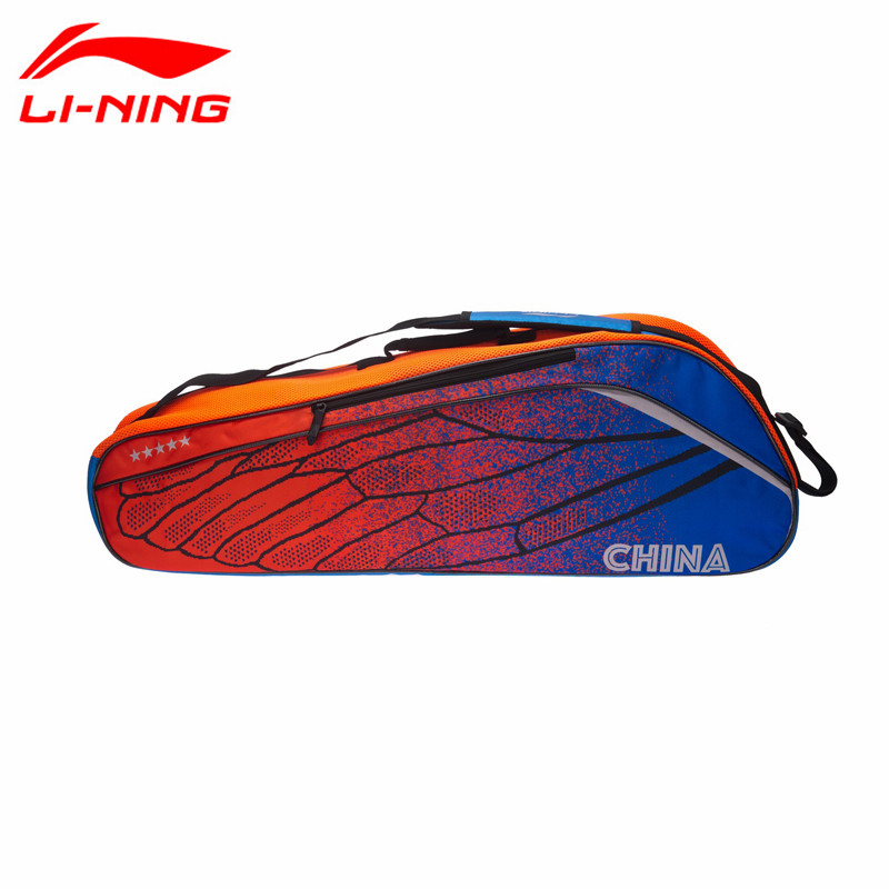 2017 Newest Li Ning Badminton Bag 3 Rackets Load Professional Sports Racquet Bag ABJM096 78*16*27.5cm L751OLD-in Racquet Sport Bags from Sports & Entertainment    1