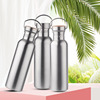 Hot Sale Bpa Free 500/750ml single wall Portable Stainless steel304  Sports&Outdoor Kettle Bicycle My Water Bottle Bamboo Lid 1