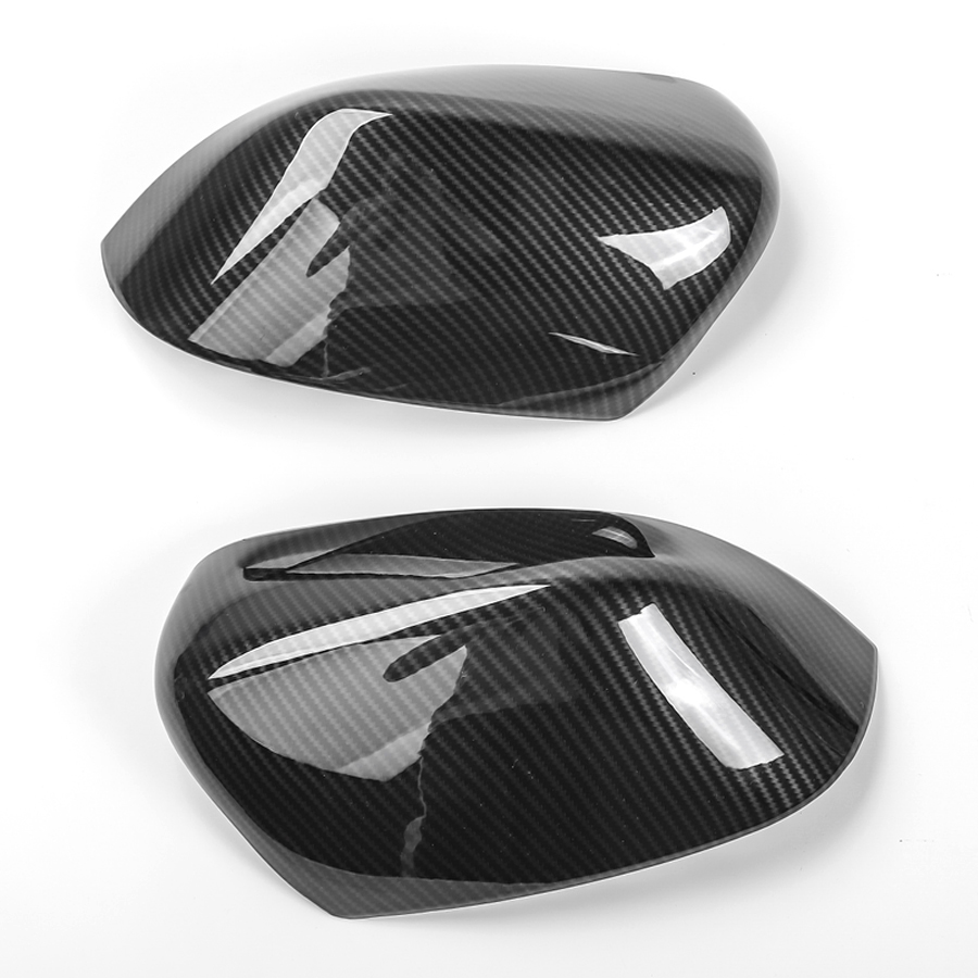 YAQUICKA New Carbon Fiber Style Car Rearview Rear view Mirror Cover Trim Mouldings Fit For Jeep