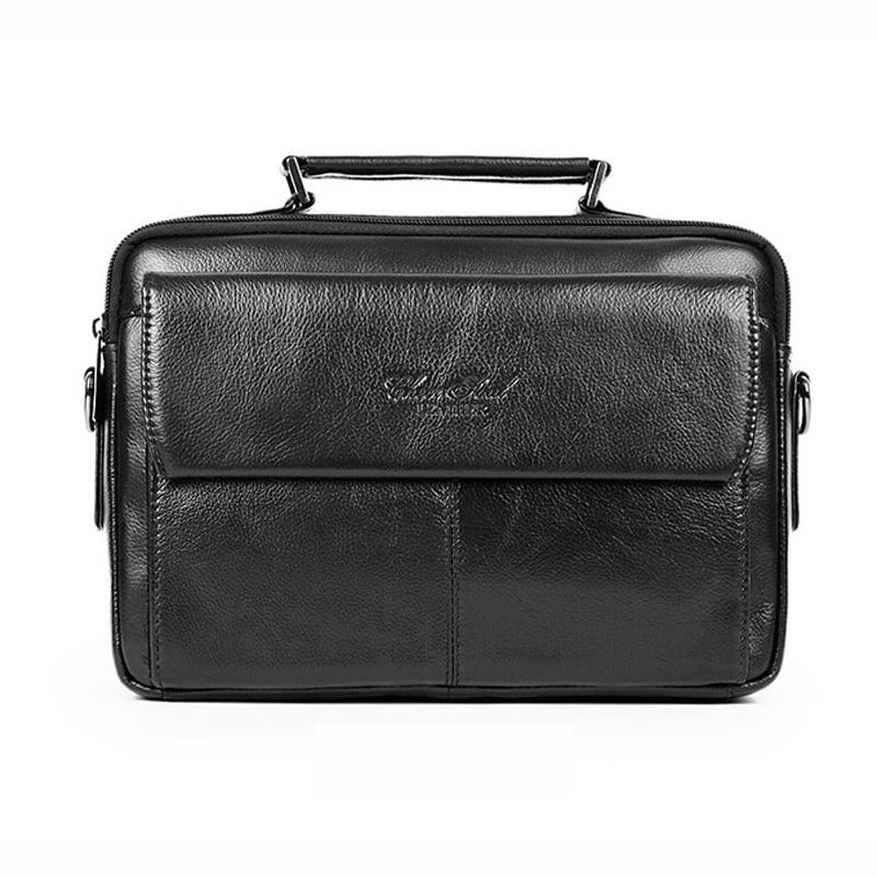 CHEER SOUL Brand Genuine Leather Men's Handbag Briefcase Messenger Bags Men Casual Crossbody Shoulder Bag Male Cowhide Bag 7067 cheer