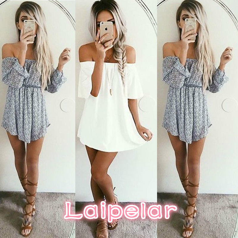 2018 Spring Summer Women Sleeveless Dress Casual Party Off Shoulder Dress Evening Short Mini Dress Laipelar in Dresses from Women 39 s Clothing