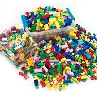250-1000 шт. строительные блоки наборы совместимые Legoings DIY творческие классические кирпичи создатель Развивающие игрушки для детей Подарки