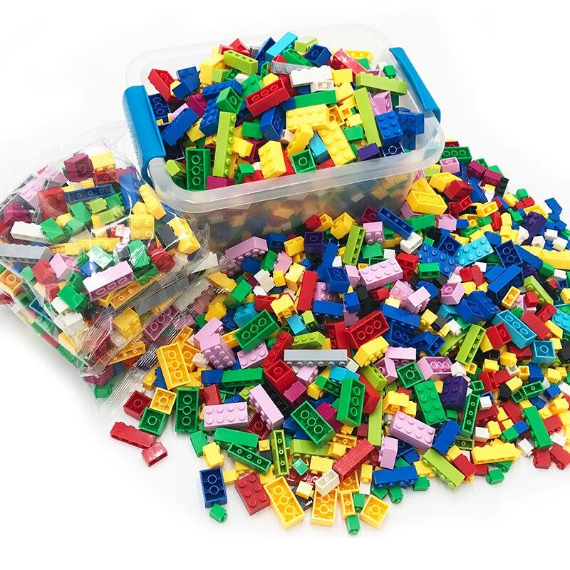 250-1000 Peças Conjuntos de Blocos de Construção Compatíveis Legoings Tijolos Criador DIY Criativo Clássico Brinquedos Educativos para As Crianças Presentes