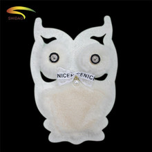 Fashion bead fur Owl patch Short Down bird diy embroidery patches for clothing sweater T-shirt Bear the decoration