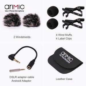 Image 5 - Ulanzi Arimic Hands Free двухголовый петличный микрофон 6 м мини клип на лацкане микрофон для iPhone для интервью встречи лекции